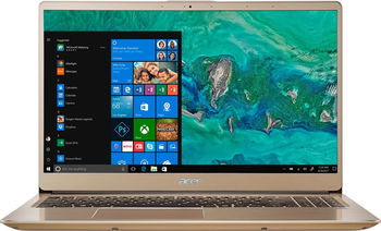 "ACER Swift 3 Luxury Gold (NX.GZBEU.018), 14.0"" IPS FullHD (Intel® Core™ i3-8130U 3.40GHz (Kaby Lake), 8Gb (1x8) DDR4 RAM, 256Gb SSD, Intel® UHD Graphics 620, CardReader, WiFi-AC/BT, FPR, Backlit KB, 4cell, HD Webcam, RUS, Linux, 1.6kg, 18mm)"
