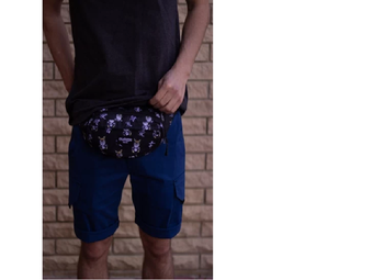 купить Сумка на пояс Custom Wear Triada Kitsune Black (383) в Кишинёве