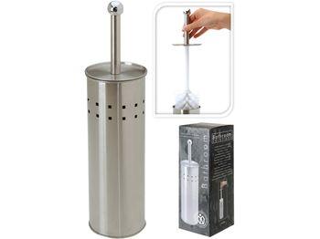 Щетка для WC c подставкой 39cm, нержавеющая сталь