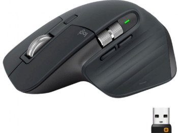 купить Wireless Mouse Logitech MX Master 3S, Optical, 200-4000 dpi, 7 buttons, Bluetooth+2.4GHz, Graphite в Кишинёве