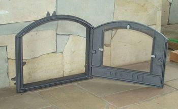 купить Дверца чугунная со стеклом правая DCHS4 в Кишинёве
