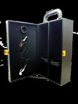 купить Коробка для двух бутылок вина / черная в Кишинёве