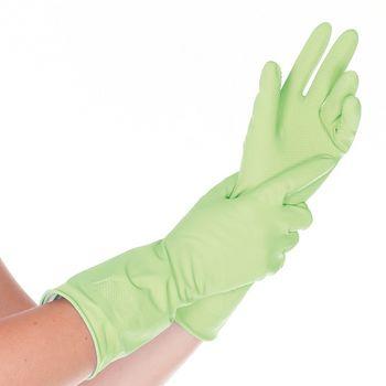 Хозяйственные перчатки ALOEVERA, ЛАТЕКСНЫЕ, ЗЕЛЕНЫЕ, 24СМ, размер L