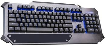 "MARVO ""K945"", Mechanical Gaming Keyboard, Kailh Blue Key Swich, 104 keys, Adjustable multiple blue backlit mode, Metal base with wrist rest, Braided cable, USB, Grey"