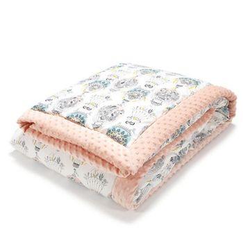 купить Одеяло La Millou велюр+хлопок Cappadocia Dream / Powder Pink 140x200 см в Кишинёве