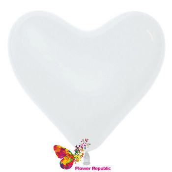 купить Шар в форме Сердца , цвет  Белый- 25 см в Кишинёве