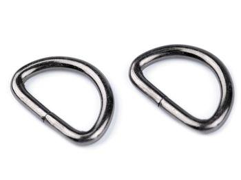 Inel metalic tip D, lățime 32 mm, nichel negru