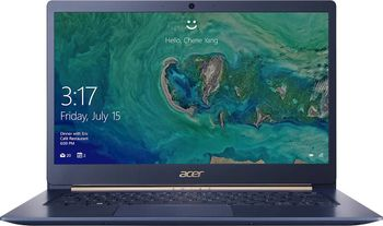 "ACER Swift 5 Charcoal Blue (NX.HHUEU.003), 14.0"" IPS FHD Multi-Touch  (Intel Core i5-1035G1 4xCore, 1.0-3.6GHz, 8GB (1x8) DDR4 RAM, 256GB PCIe NVMe SSD, Intel UHD Graphics, WiFi-AC/BT, FPR, Backlit KB, 4cell,HD Webcam, RUS, 0.99kg,14.9mm)"