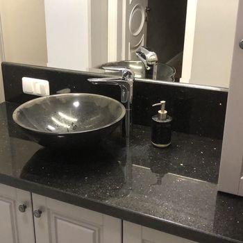 купить Столешница для ванной комнаты из Гранита Black Galaxy в Кишинёве
