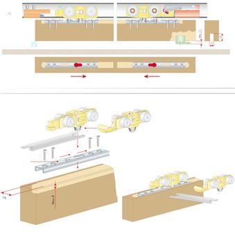 Механизм для раздвижных дверей Terno Scorrevoli, 40 кг