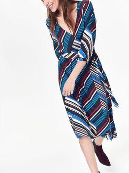 Платье TOP SECRET Черный в полоску ssu2491