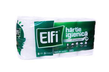 купить Туалетная бумагa ELFI PREMIUM 8 рулонов 3 слоя 140 листов 12x9.7 чм в Кишинёве