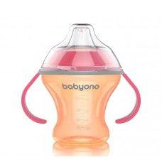 купить Поильник-непроливайка Babyono с силиконовым носиком 180 мл (6+ мес) оранжевая в Кишинёве