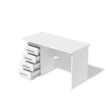 Стол компьютерный СК-03 белый ясень левый