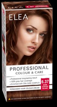 Краска для волос,SOLVEX Elea, 138 мл., 6.37 - Тёмно-русый медный