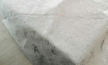 купить Ковер из натуральной кожи COW WHITE ACID SILVER SKIN, белая с вкраплениями серебра в Кишинёве