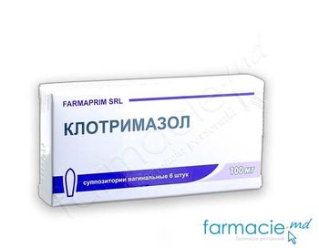 купить Клотримазол, 100 мг свечи вагинальные N6 (FP) в Кишинёве