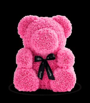 cumpără Ursul de trandafiri roz 70 cm în Chișinău