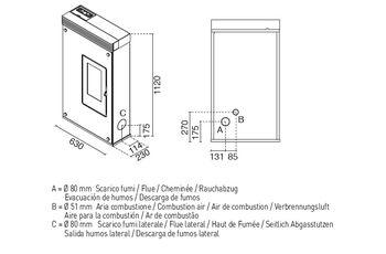 Печь пеллетная - ELENA 7,5 кВт
