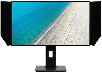 "27.0"" ACER IPS LED PE270K Professional 4K Black (4ms, 1300:1, 350cd, 3840x2160, 2 x HDMI, DisplayPort, HDR, Speakers 2 x 2W, USB Hub: 5 x USB3.1, Audio Line-out, Height Adjustable, VESA) [UM.HP0EE.001]"