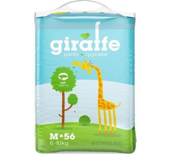 купить Подгузники-трусики Lovular Giraffe M (6-10 kg) 56 шт в Кишинёве
