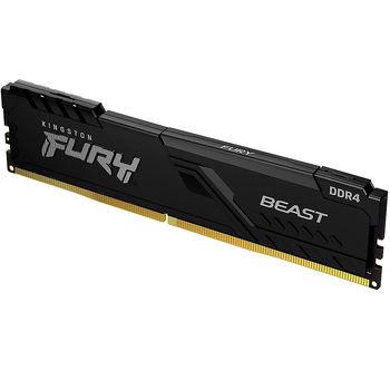 Memorie operativa 8GB DDR4 Kingston HyperX FURY Beast Black KF430C15BB/8 PC4-24000 3000MHz CL15, Retail (memorie/память)