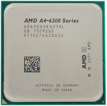 {u'ru': u'AMD A-Series X2 A4-6300 Socket FM2  3.7-3.9GHz, 1MB L2, Intergrated HD8370D, 65W 32nm, Richland, Tray', u'ro': u'AMD A-Series X2 A4-6300 Socket FM2  3.7-3.9GHz, 1MB L2, Intergrated HD8370D, 65W 32nm, Richland, Tray'}