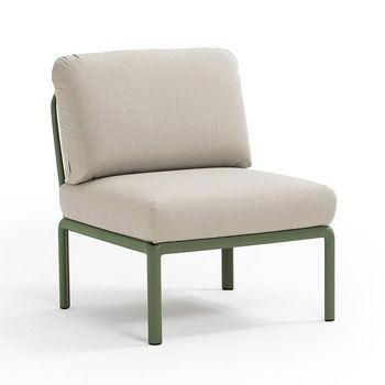 Кресло модуль центральный с подушками c водоотталкивающей тканью Nardi KOMODO ELEMENTO CENTRALE AGAVE-TECH panama 40373.16.131
