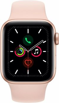 купить Apple Watch 5 40mm/Gold Aluminium Case With Pink Sand Sport Band, MWV72 GPS в Кишинёве