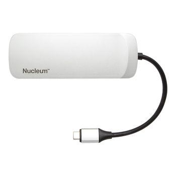 Kingston Nucleum USB-C Hub, Ports: USB-C (power input) / USB-C (data) / HDMI / 2 x USB / SD / microSD, USB 3.1 Gen 1, Power Delivery Pass through up to 60W