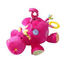 Игрушка музыкальная Гиппопотам розовый