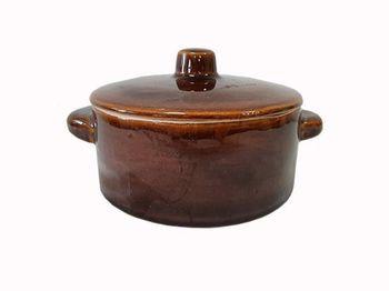 Форма для выпечки глиняная 1l, D16cm, с крышкой