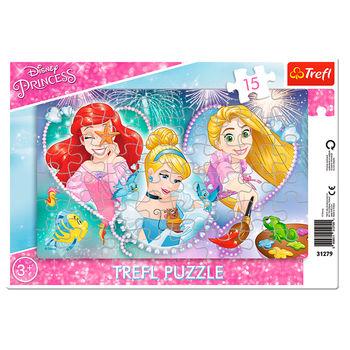 """Пазлы """"15 Frame"""" - Three smiling princesses"""", код 41654"""