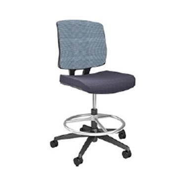 купить Офисный стул с черной спинкой и черным сиденьем в Кишинёве