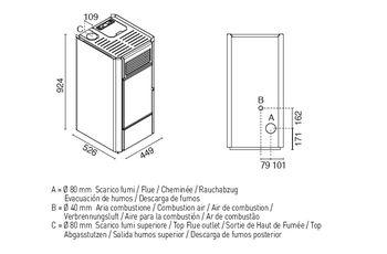 купить Печь пеллетная - BETTY 9 кВт в Кишинёве