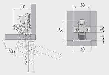 Balama 165° cu amortizor GTV
