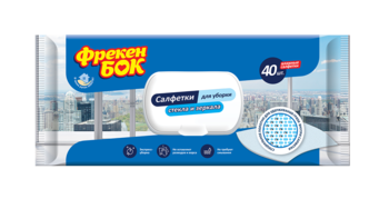 купить Влажные бытовые полотенца для стекла и зеркал Фрекен Бок, 100% хлопок, 36 шт. в Кишинёве