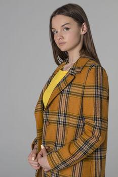 купить Пальто женское в клетку в Кишинёве