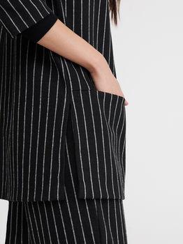 Пиджак RESERVED Черный в полоску