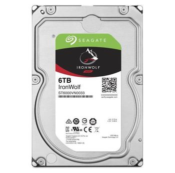"3.5"" HDD 6.0TB  Seagate ST6000VN0033  IronWolf™ NAS, 7200rpm, 256MB, SATAIII"
