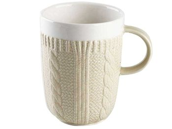 Чашка фарфоровая Pullover 320ml, цвет молочный