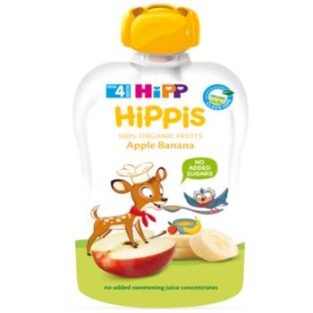 купить Hipp Hippis пюре сюрприз яблоко и банан, 4+мес. 100г в Кишинёве