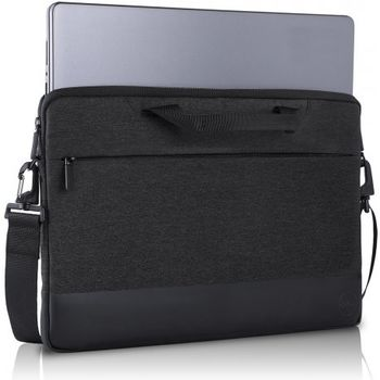 "15"" NB Bag - Dell Professional Sleeve 15,  The professionally chic heather dark grey exterior and plush-lined interior protect your laptop from scratches or damage, Black/Grey"
