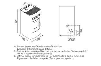 Печь пеллетная - SONIA 9 кВт