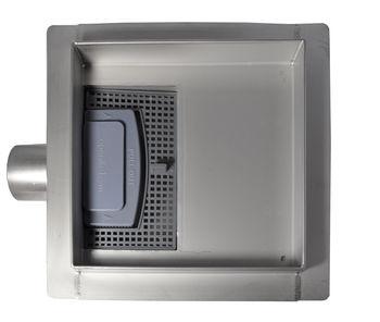 купить Трап квадратный dn 40 х 90° S07 TILE INSERT (без решетки, под плитку) выход 150 x 150 x 67 комплект в Кишинёве