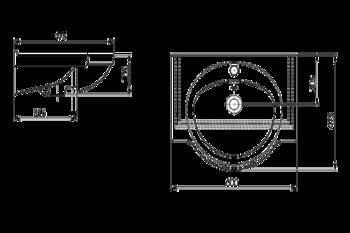 Умывальник Santeri Saturn 60x47