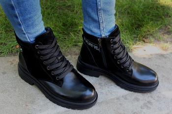 Botine negre pentru doame