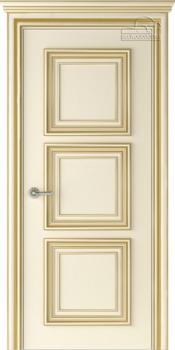 купить Дверь ПАЛАЦЦО 3 слоновая кость патина золото глухая в Кишинёве