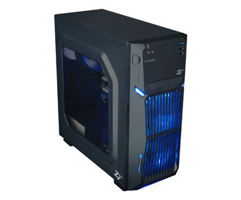 "ZALMAN ""Z1 NEO"" ATX Case, with Side-Window, without PSU, Tool-less, 3 fans pre-installed (2x 120mm Blue LED fan, 1x 120mm fan), up to 5x2.5"" Bays, Dust filter installed,  1xUSB3.0, 2xUSB2.0 /Audio, Black"