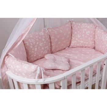 Lengerie de pat  Dolce D-013 Locuitori de pădure, roz, cod 42105